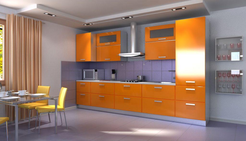 дизайн прямой кухни 3 метра