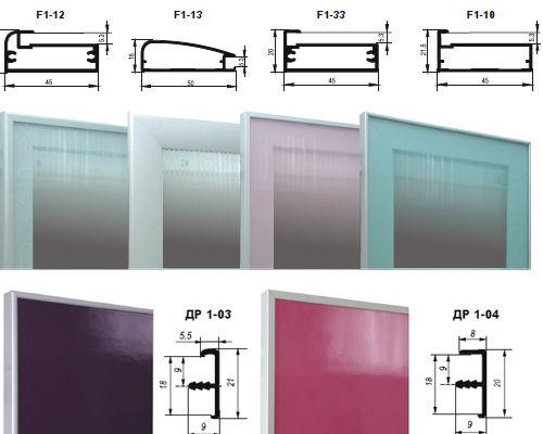 Схема алюминиево-стеклянного фасада