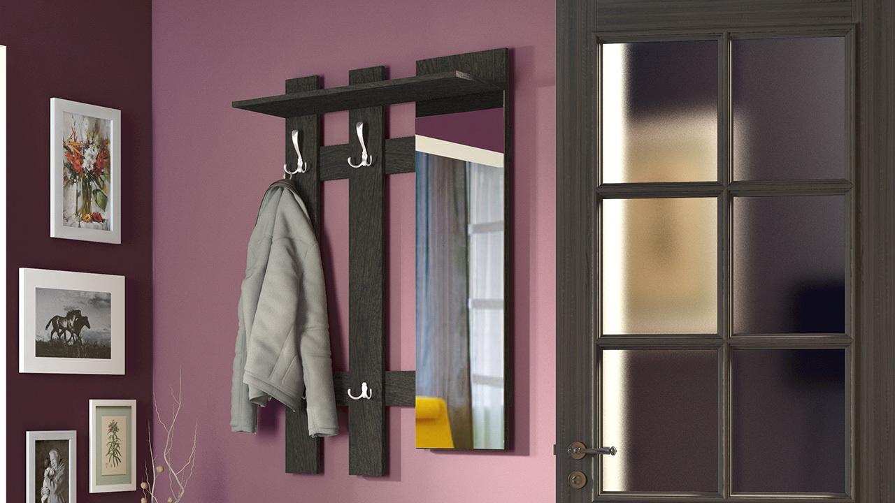 железная вешалка для прихожей комнаты дизайн