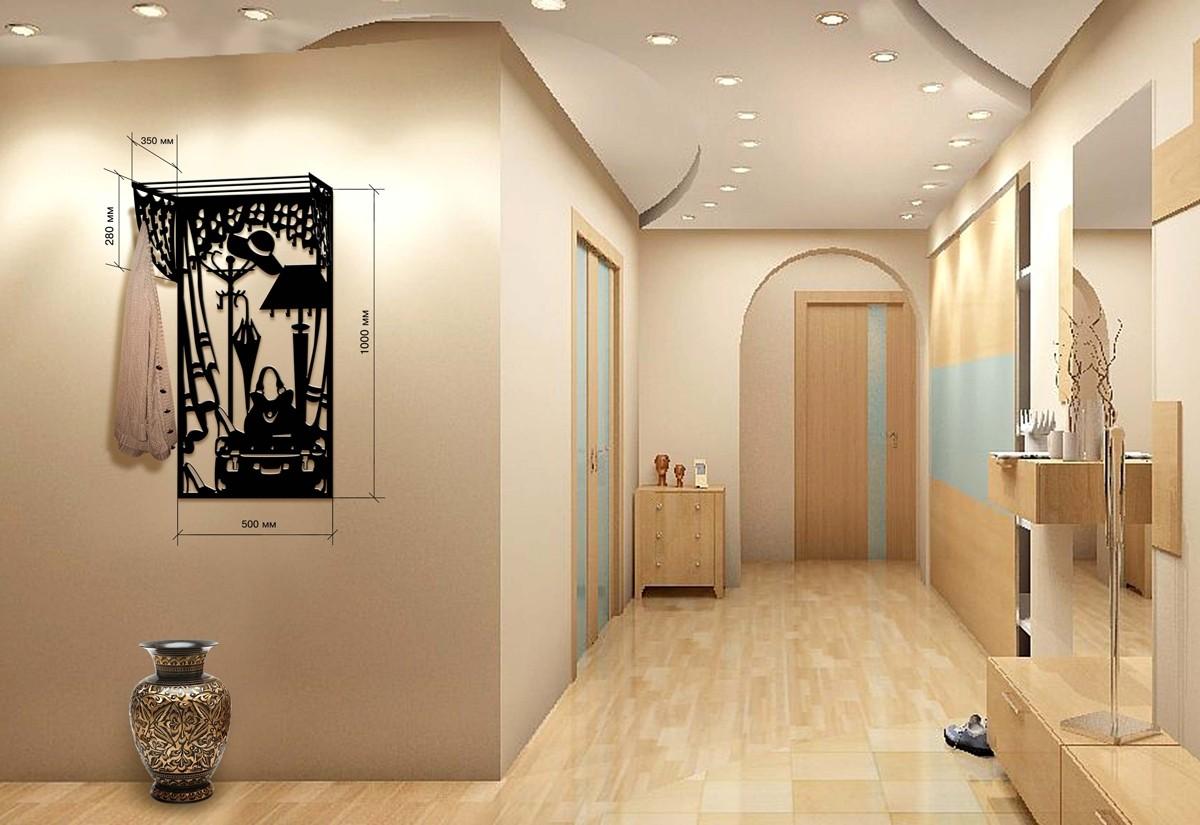 кованная вешалка для прихожей комнаты конструкция