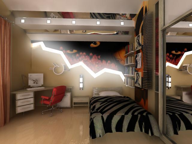 Комната в стиле китч