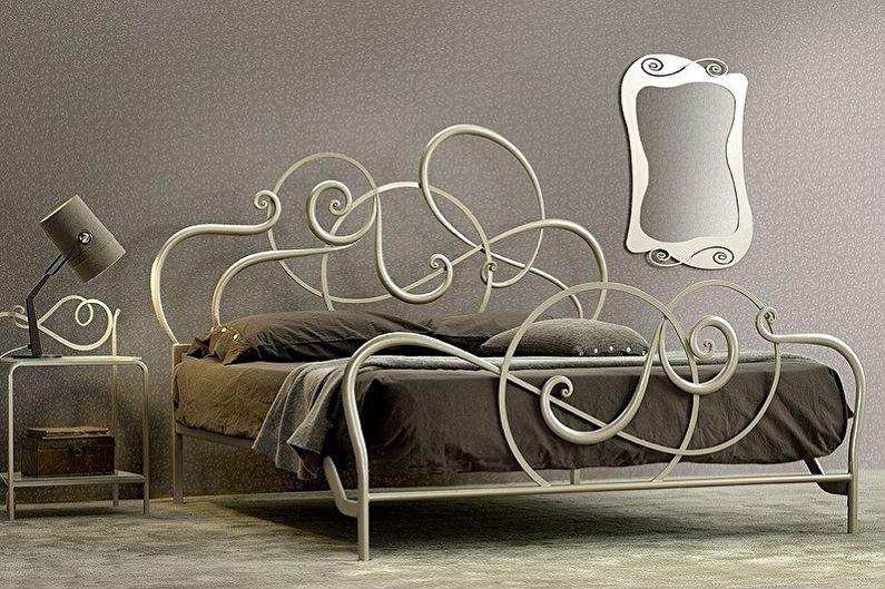 Виды кованых кроватей в разных стилях - Модерн