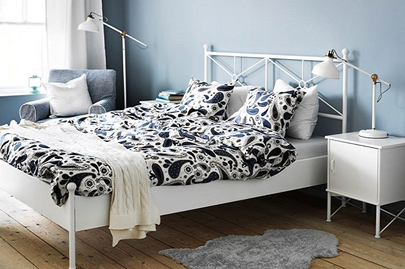 Виды кованых кроватей в разных стилях - Скандинавский стиль