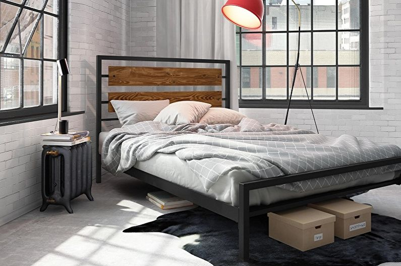 Виды кованых кроватей в разных стилях - Лофт