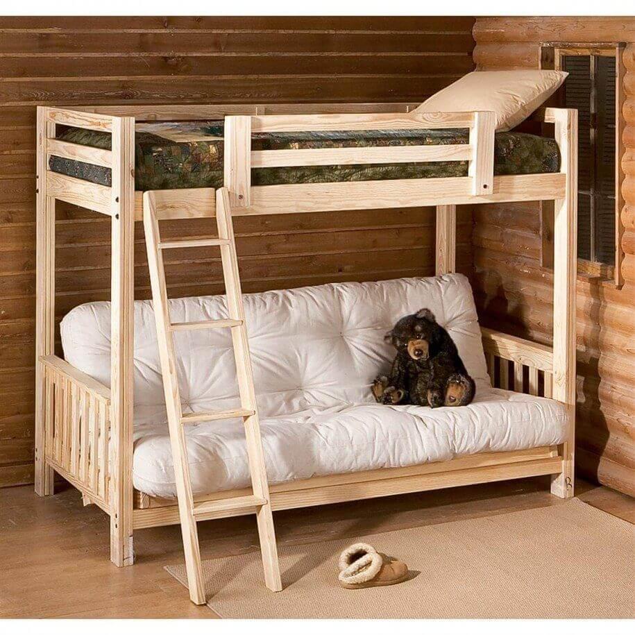 Двухъярусная кровать с диваном 12