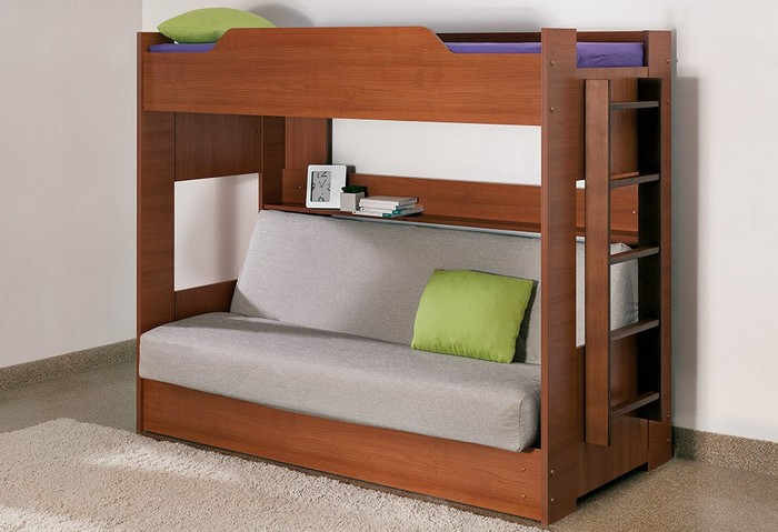 Кровать с раскладывающимся спальным местом с низу