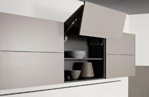 размещение навесных шкафов с помощью кручков