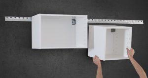 крепление шкафов на стену в кухне