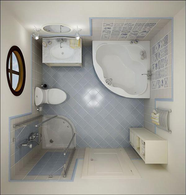 Разработка дизайна маленькой ванной комнаты