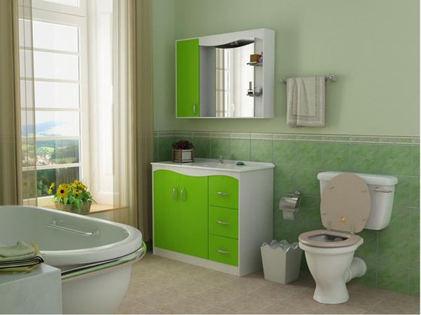 Контрастный пол в дизайне ванной комнаты