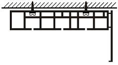 Схема установки широкого карниза