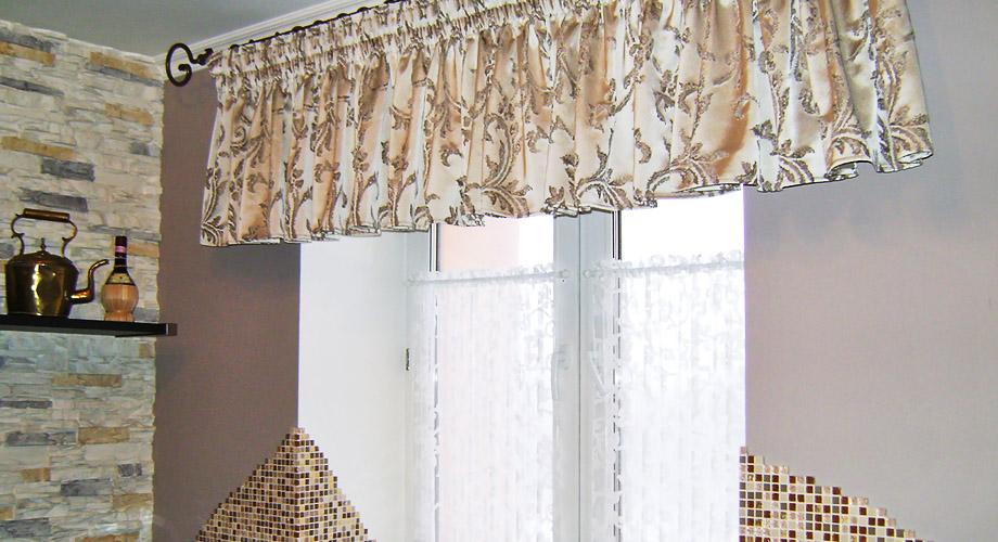 шторы на тесьме для кухни