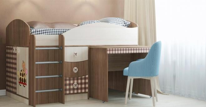 Кровать-чердак Алиса