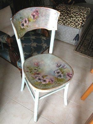 Чем отделать стул