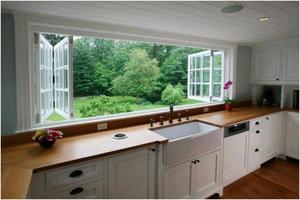 Древесина – классический материал для изготовления кухонных столешниц