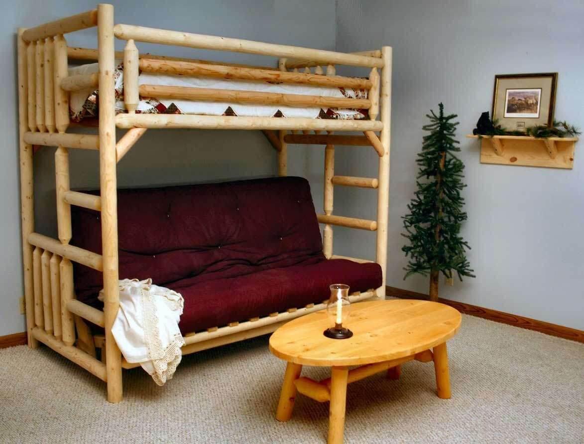 Двухъярусная кровать с диваном 13