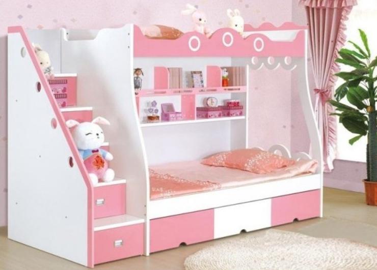 Интересное решение для комнаты девочек они оценят розовый цвет