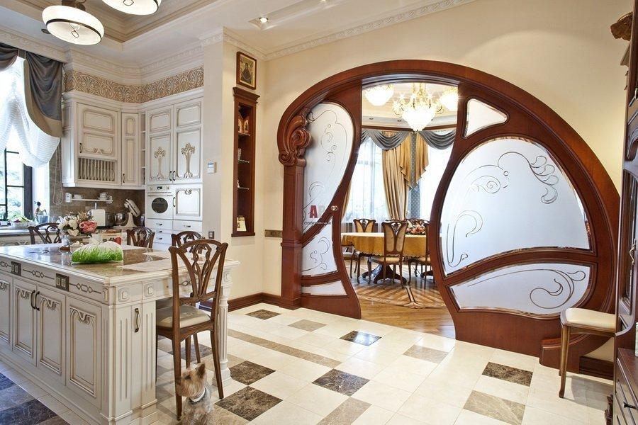 кухня модерн извилистые формы