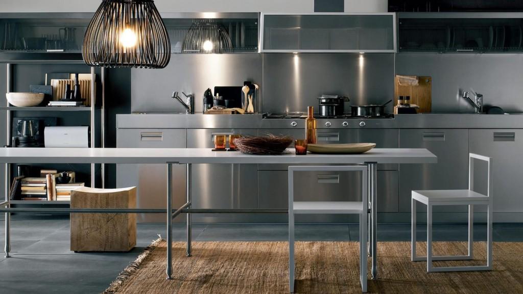 кухня современная из стали