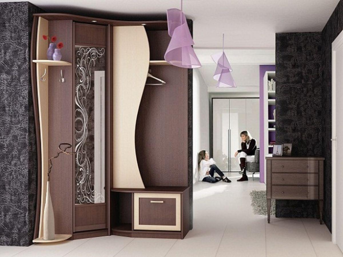 угловой стиль прихожей комнаты
