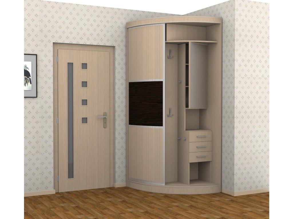 угловой дизайн проходной комнаты