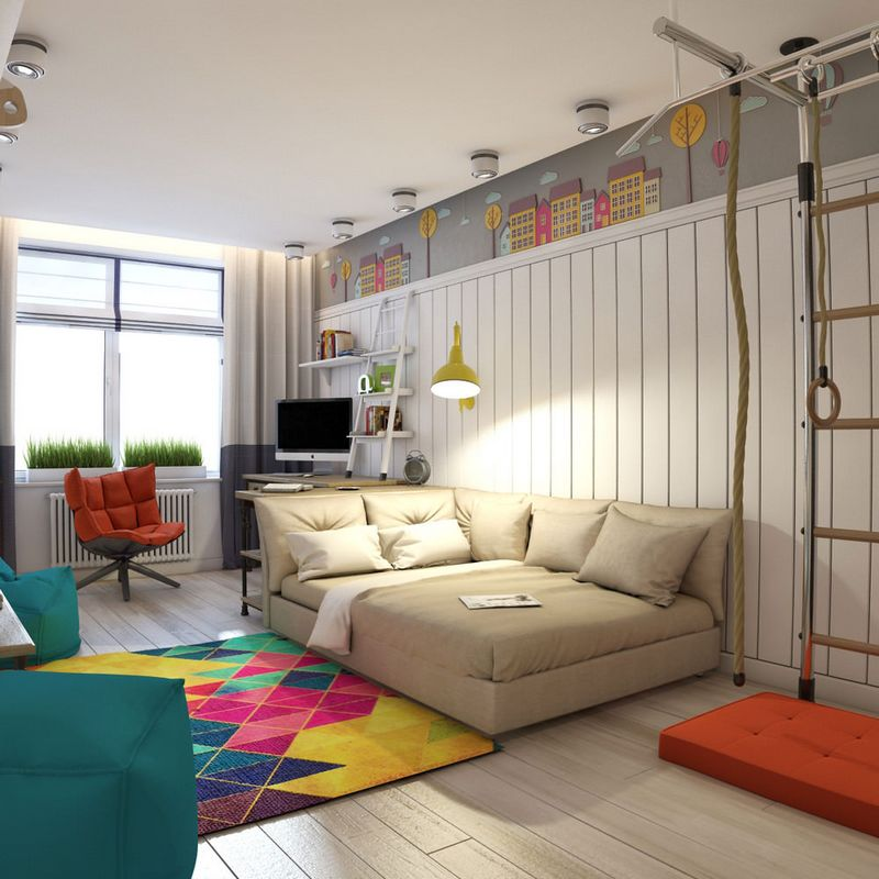 Дизайн детской комнаты 9 кв. м.