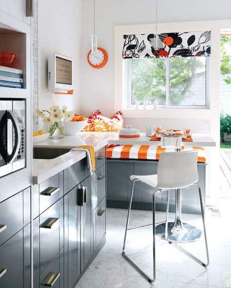 Стильное оформление интерьера маленькой кухни