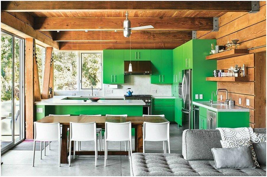 G-образная планировка совмещённой кухни