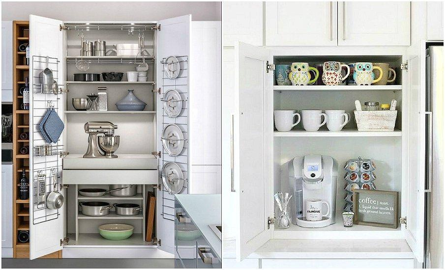 Практичное хранение посуды и бытовой техники