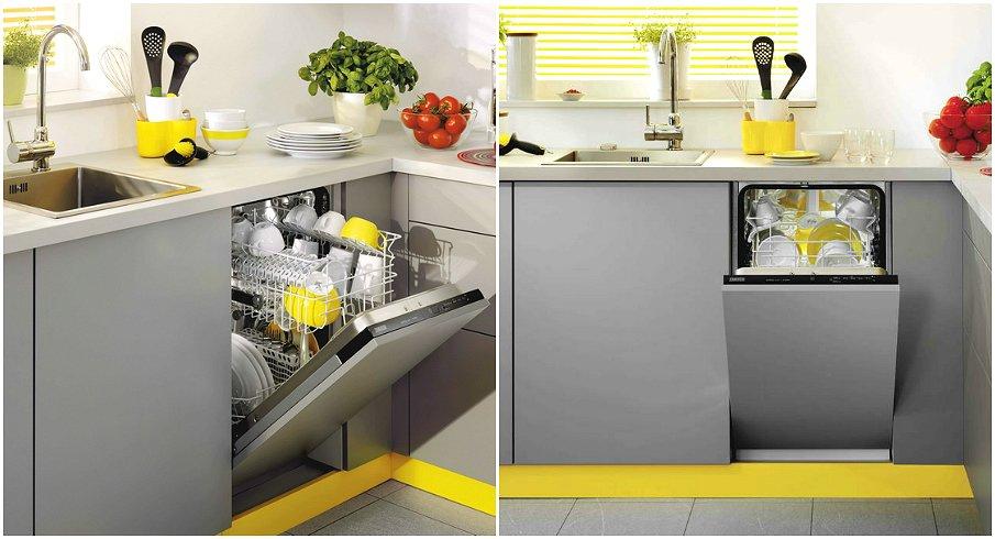 Организация посудомоечной машины и раковины на кухне