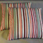 подушка в полоску
