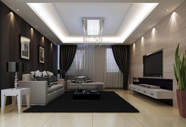 Многоуровневый потолок в стиле минимализм