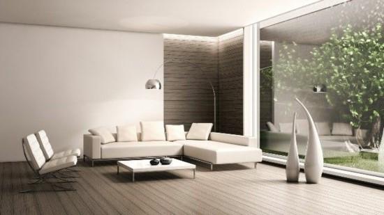 Ламинат в гостиной в стиле минимализм