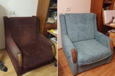 Перетяжка кресла-кровати фото 1