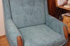 Кресло-кровать после перетяжки