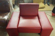 Обивка кресла кожей