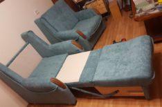 Кресло-кровать после перетяжки фото 2
