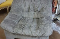Перетяжка кресла фото 18