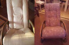 Перетяжка кресла-качалки до после