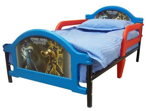 Детская кровать для мальчика с защитными бортиками