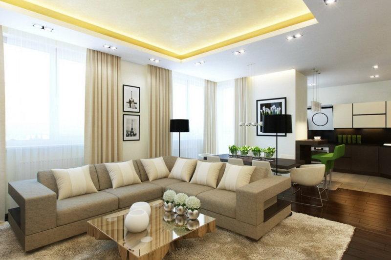 гостиная в светлых тонах дизайн фото