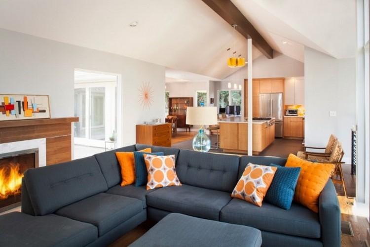Модульные диваны в интерьере гостиной: особенности выбора и применения (50 фото)
