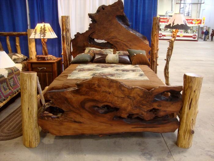 Оригинальная модель кровати из дерева