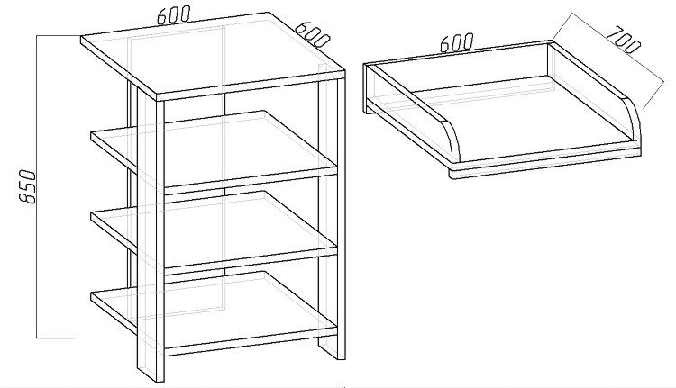 Как сделать пеленальный столик своими руками, чертеж