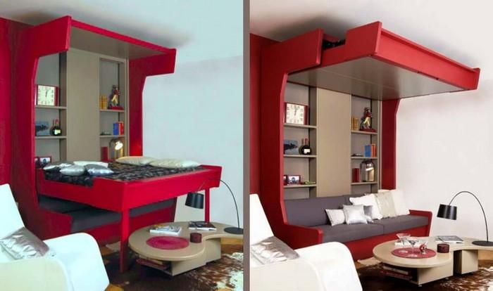 Яркая мебель красного цвета