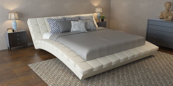 Фигурный каркас у кровати