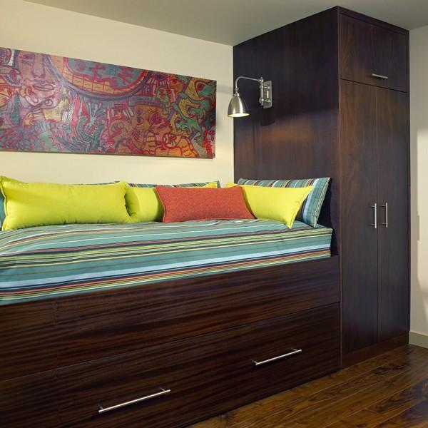 Кровать чердак встроенная в мебель