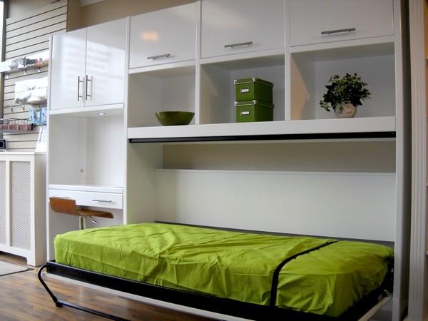 Кровать встраиваемая в шкаф для комнаты подростка
