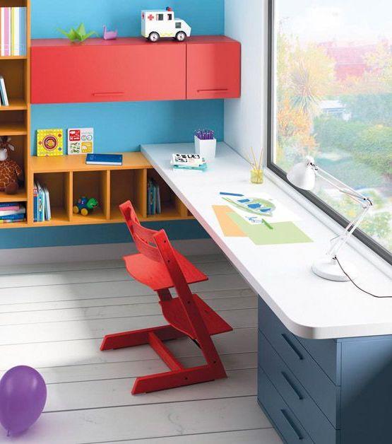 Яркие краски детской мебели
