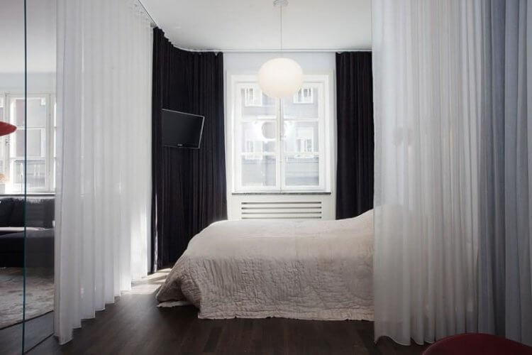 Зонирование спальня
